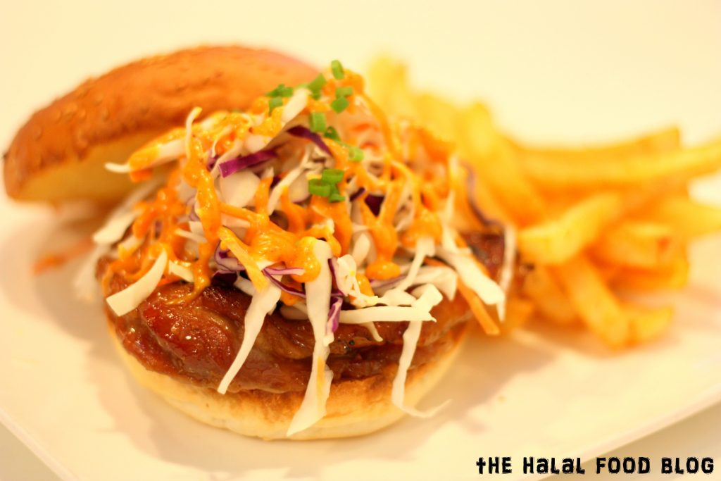 Honey Chicken and Slaw Burger ($17.00)