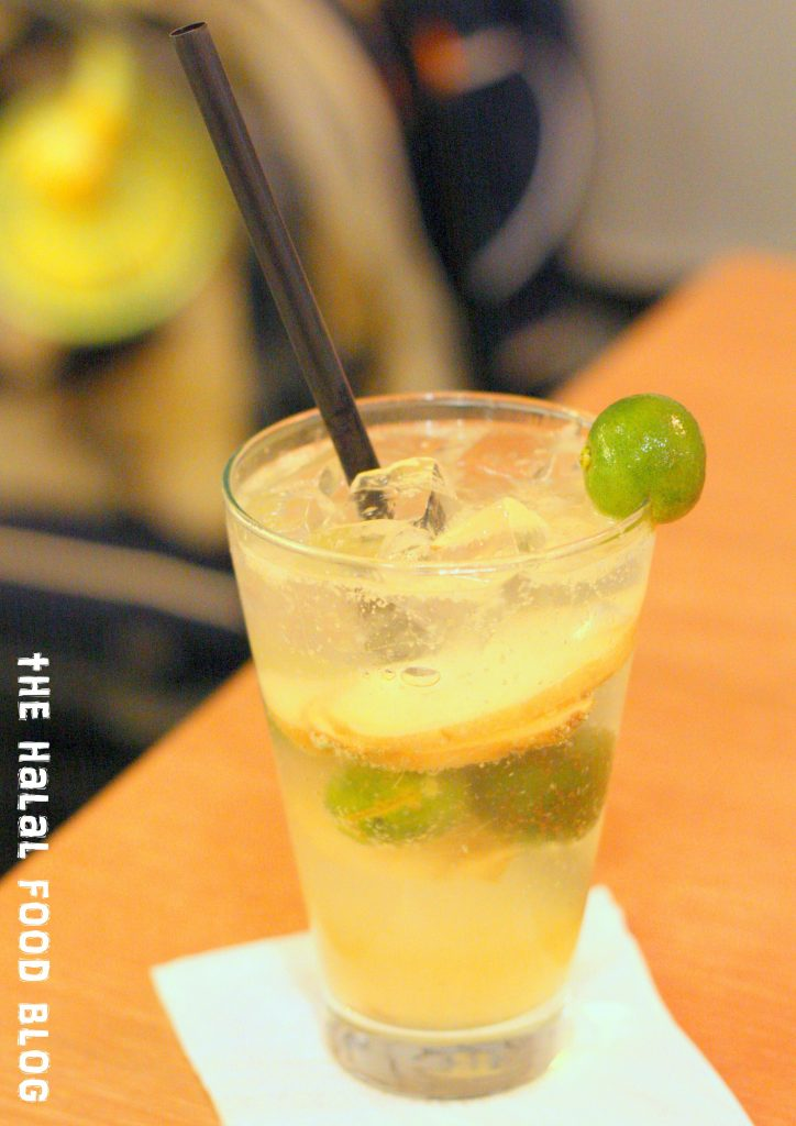 Ginger and Lime Soda ($5.50)