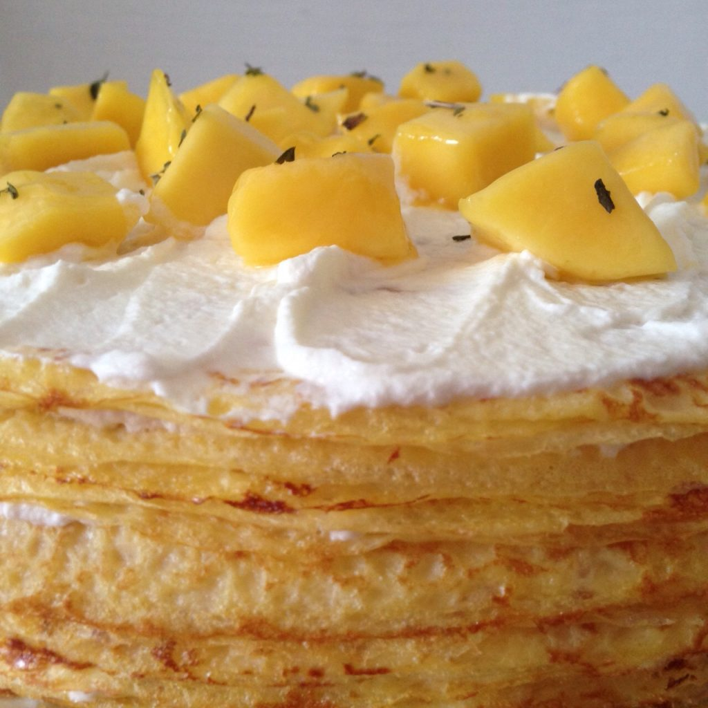 Mango & Chantilly Mille Crepe (image courtesy of The Work Table Confections)