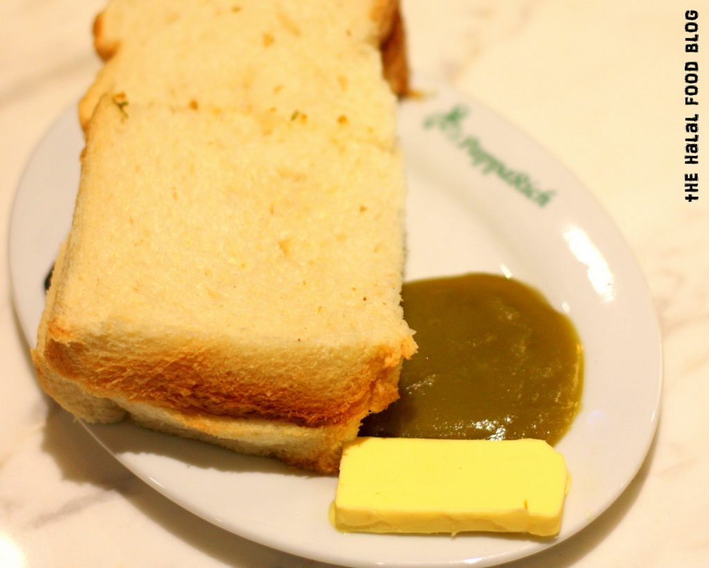 Pappa Hainan Steamed Bread with Butter and Kaya ($3.90)