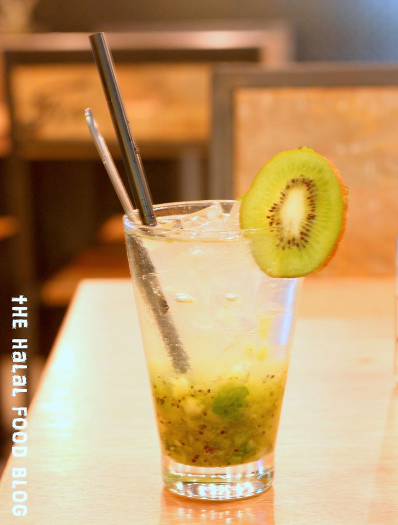 Kiwi and Mint Soda ($5.50)