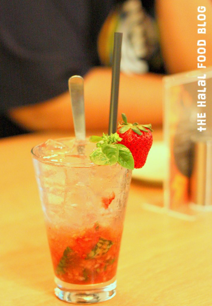 Strawberry and Sweet Basil Soda ($5.50)