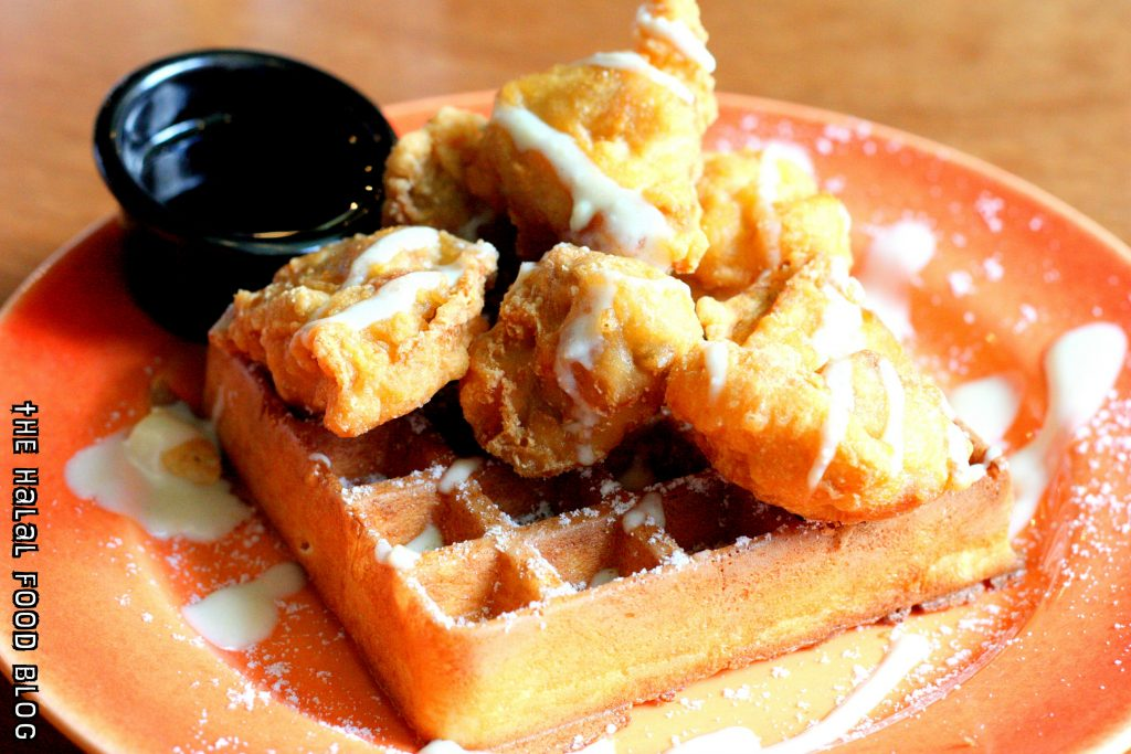 Waffles & Fried Chicken with Maple Syrup ($11.00)