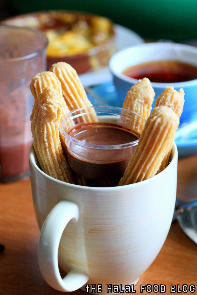 Churros with Cinnamon Sugar & Chocolate Dip ($7.00)