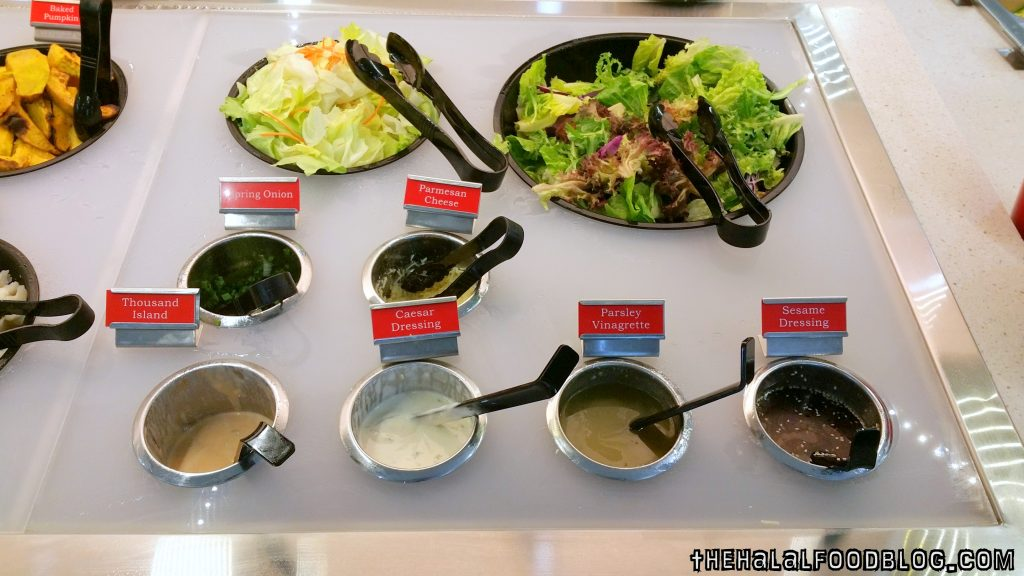 D.I.Y Salad with 4 different types of dressings