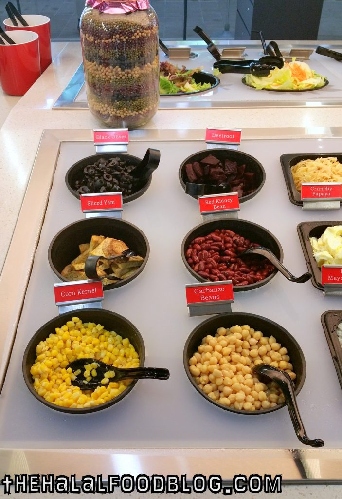 Black Olives, Beetroot, Sliced Yam, Red Kidney Beans, Corn Kernels and Garbanzo Beans