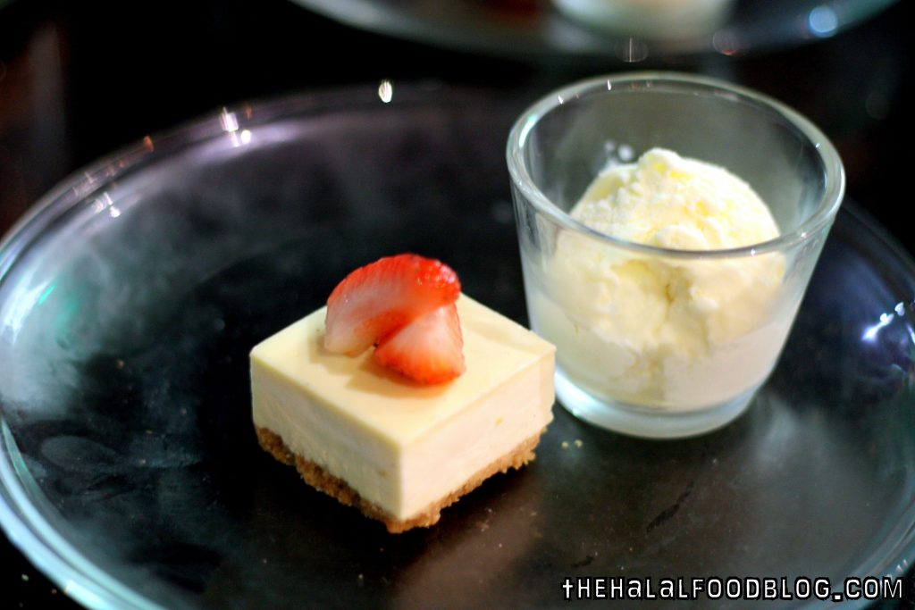 Cheesecake and Vanilla Ice Cream