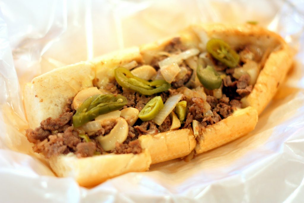"Mushroom Cheese Steak ($10.90 for 7"" and $14.90 for 10"")"