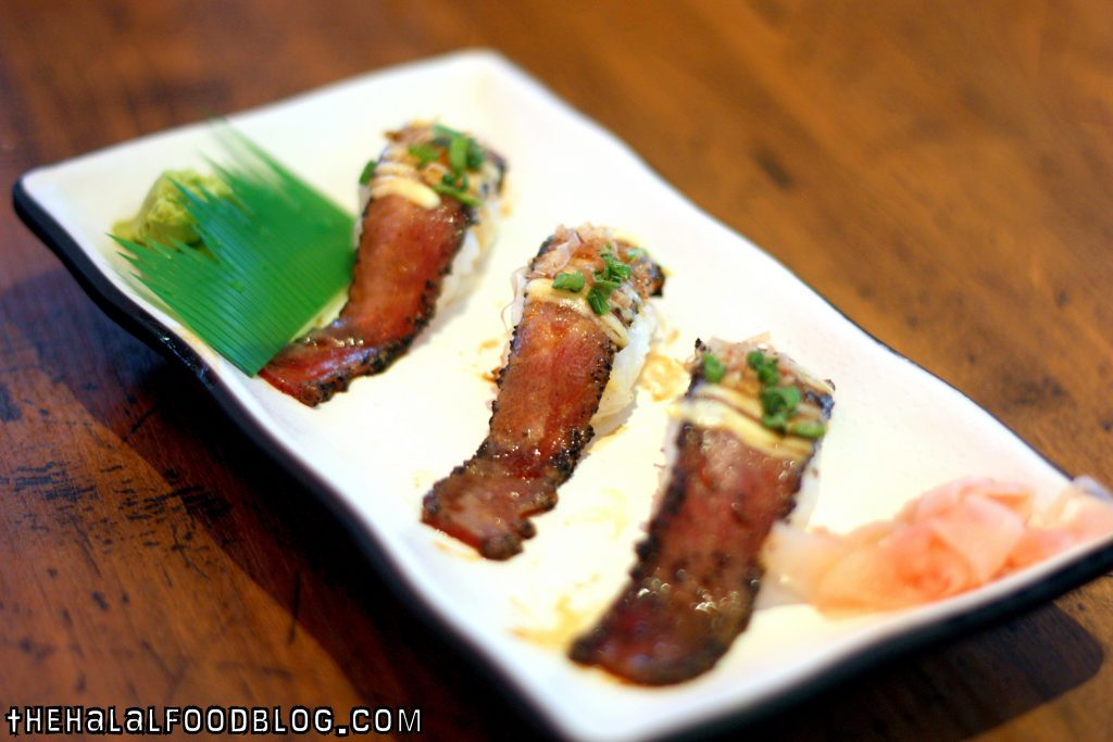 Torched Beef Sushi ($7.90)