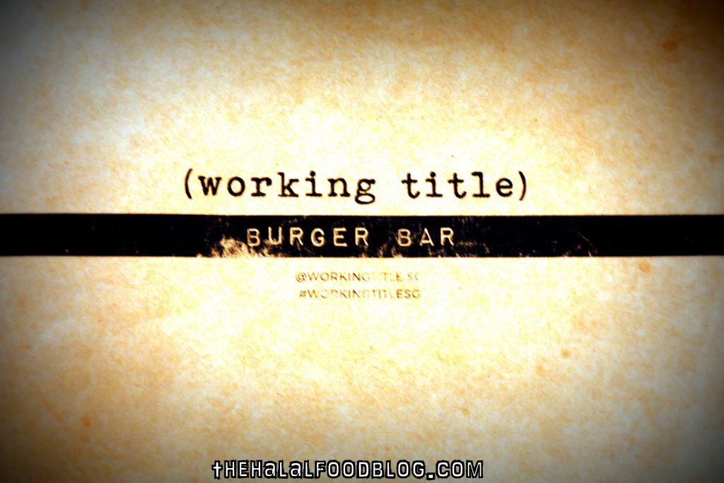 Working Title 22 Menu