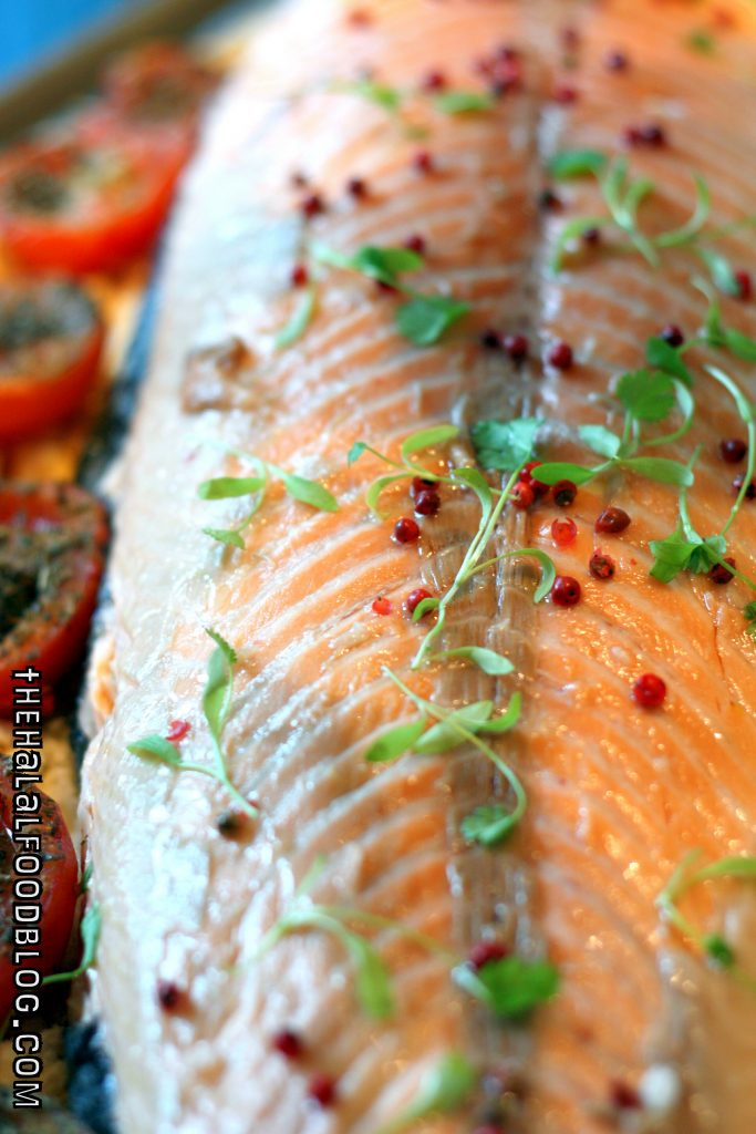 Slow-cooked Rock Salt Salmon with Mustard Dill Sauce