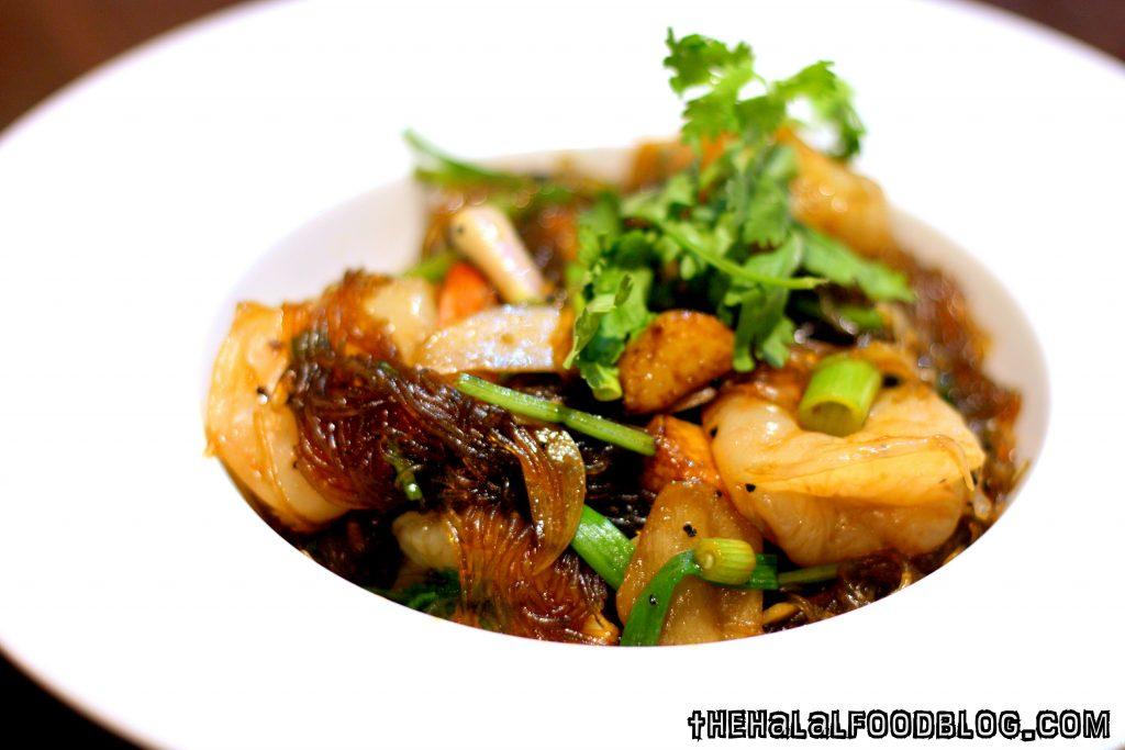 Fried Glass Noodle with Black Pepper and Prawn