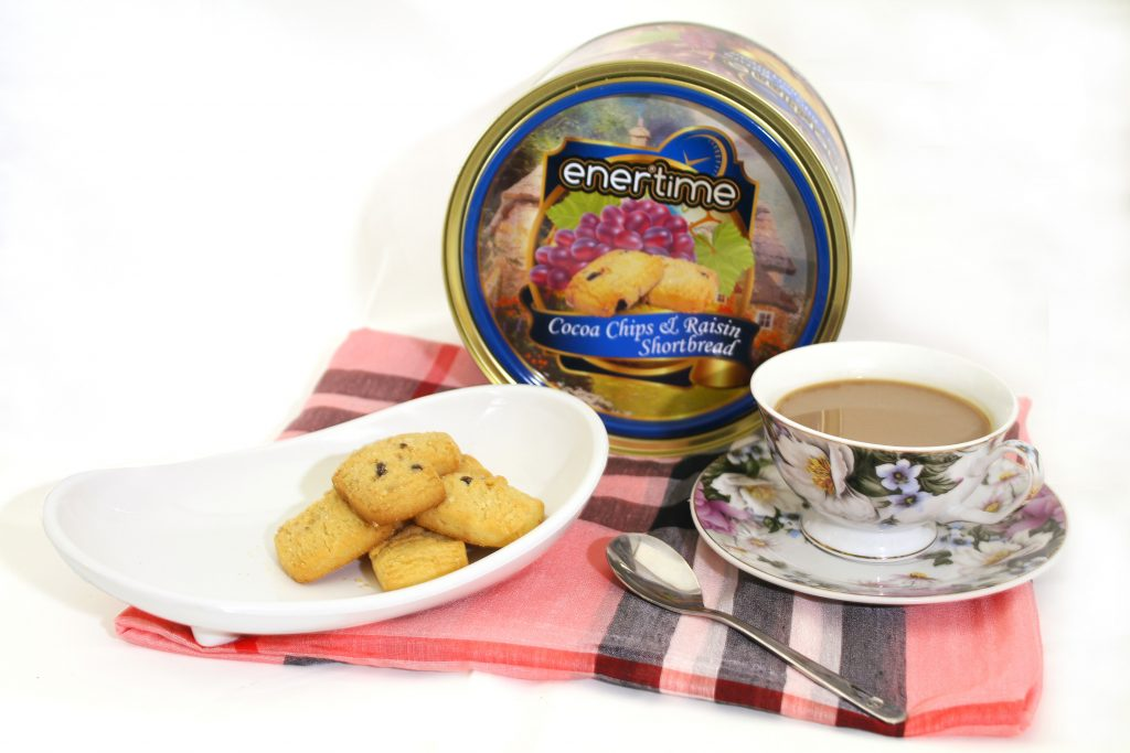 Enertime Cocoa Chips & Raisin Shortbread