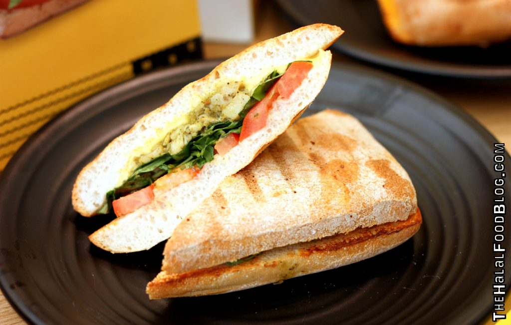 Chicken Pesto, Wild Rocket & Tomato on Ciabatta ($6.70)