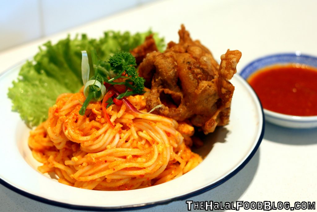 Chili Soft Shell Crab Noodles