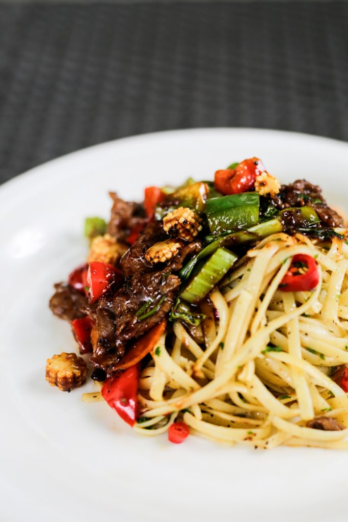 Chinese Style Stir-Fry Beef Pasta