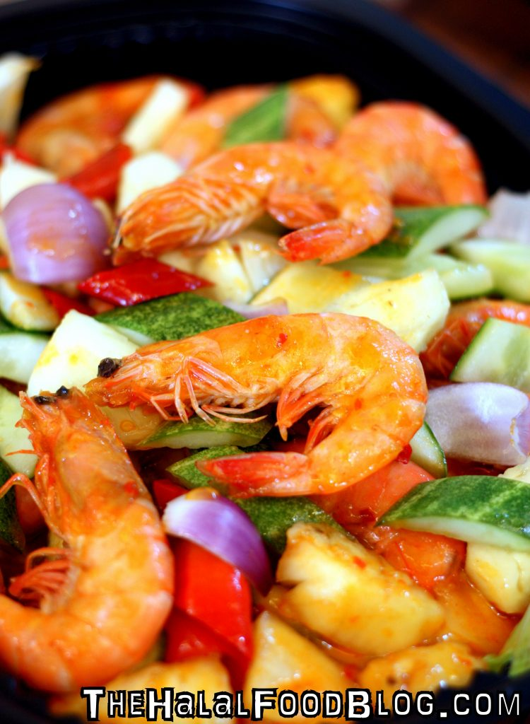 Wok-Fried Prawn in Spicy Thai Style Sauce