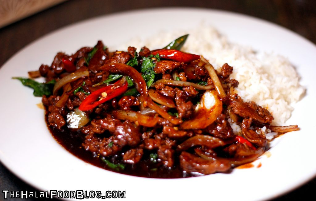 Beef Kapraw with Rice ($6.00)